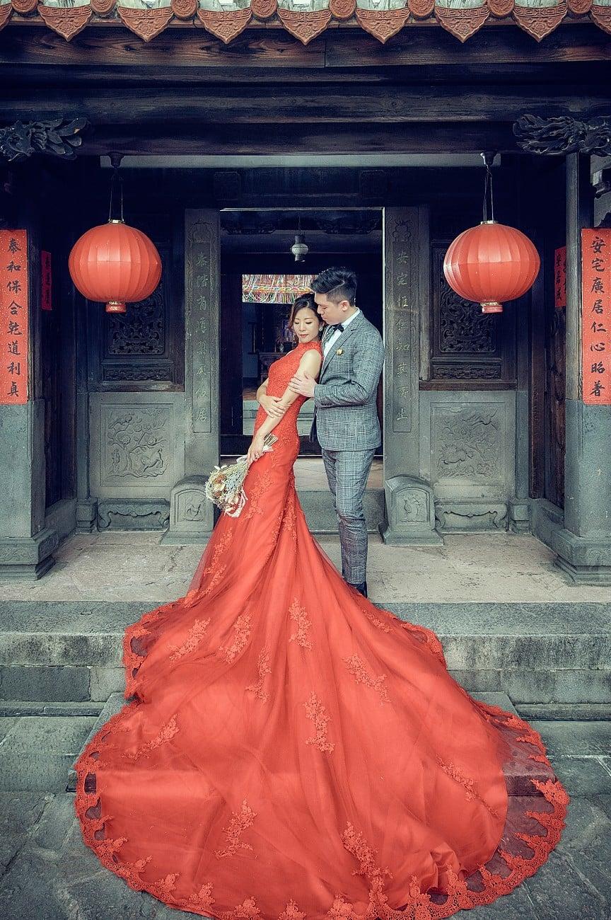 拍婚紗,別錯過百人好評的囍聚婚紗工作室,林安泰古厝篇