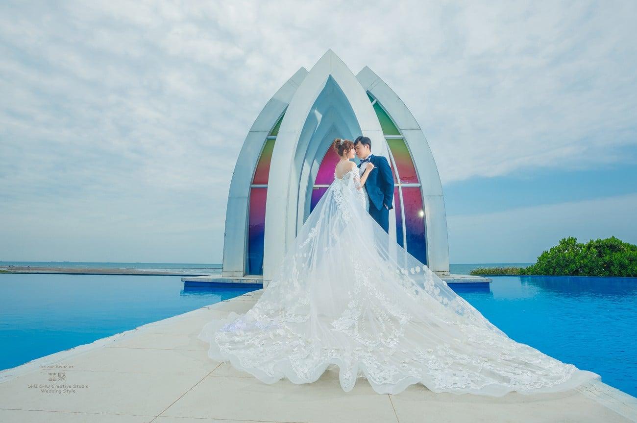 拍婚紗,別錯過百人好評的囍聚婚紗工作室,淡水莊園篇